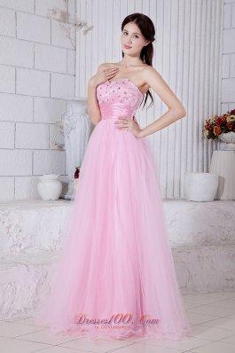 Baby Pink Sweetheart Beading Prom Dress Sash