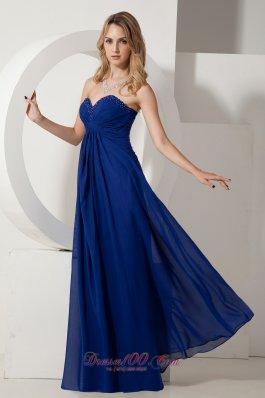 Royal Blue Prom Evening Dress Around 100 Beading