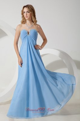 Prom Evening Dress Baby Blue Sweetheart Beading