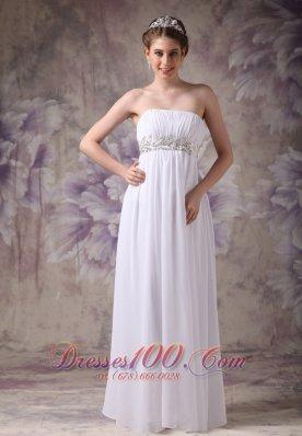 Simple Bridal Dress for Beach Wedding Appliques