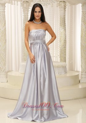 Silver Mother Of The Bride Dress Pleats
