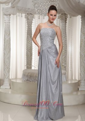 Clearance Grey Prom Dress Appliques Beading