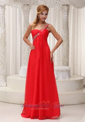 2013 Prom Dress Beaded One Shoulder Chiffon