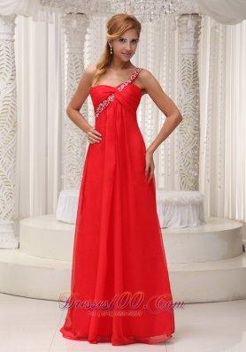 2013 Prom Dress Beaded One Shoulder Chiffon
