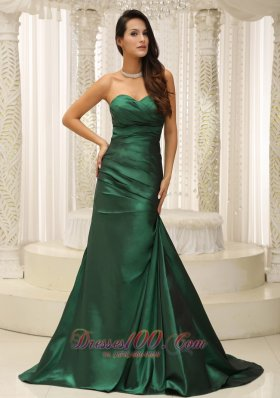 Customize Mother Of The Bride Dress Dark Green