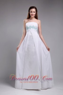 Simple And Sweet Empire Prom Dress Ruch Beading
