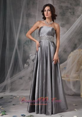 Mother of the Bride Dress Dark Silver Beading