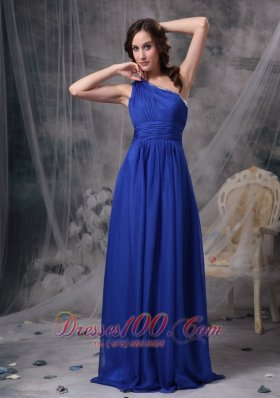 Hot One Shoulder Prom Dress 2013 Royal Blue