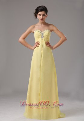 Discount Light Yellow Prom Dresses