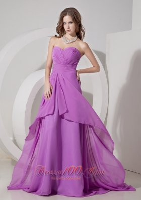 Low Price Lavender Empire Pleated Prom Dress