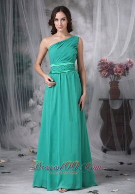 Turquoise Evening Dress Side Zipper Beading
