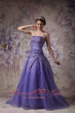 Romantic Lilac Around 150 Prom Dress Appliques