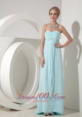 Wedding Dress for Bridesmaid Baby Blue Beading
