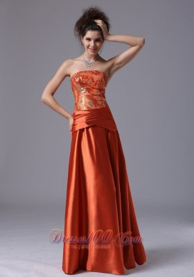 Wholesale Beading Column Dress for Prom Rust Red
