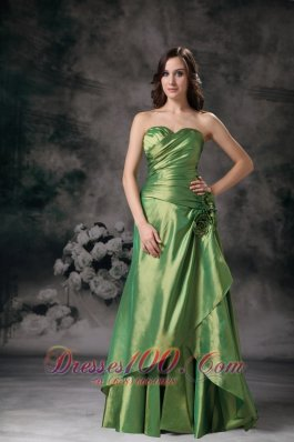 Discount Green Prom Maxi Dress Sweetheart Column