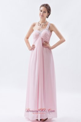 Exclusive One Shoulder Dress for Prom Beading