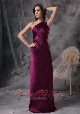 Dark Purple One Shoulder Mother Dress for Bridal