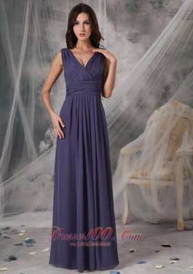 Cheap V-neck Bridesmaid Dress Empire Chiffon