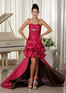 Customize Perfect High-low Prom Dress Flowers