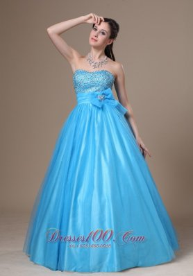 Beading and Bowknot Prom Evening Dress For 2013