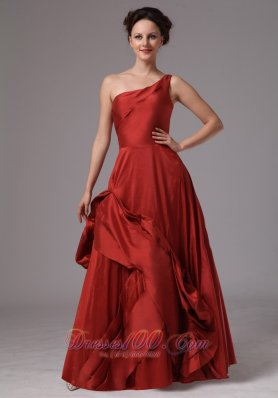 Pick-up Unique One Shoulder Prom Dress 2013 2014