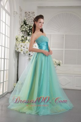 Beading Sweetheart Tulle Two-toned Prom Dress