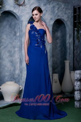 Royal Handmade One Shoulder Beading Prom Dress