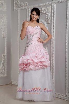 Two-toned Beading Taffeta Graduation Dress Mermaid Style