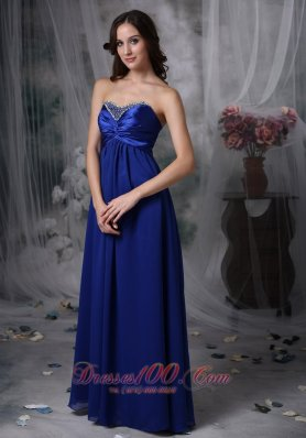 Royal Blue 2013 Mother of the Bride Dress Beaded