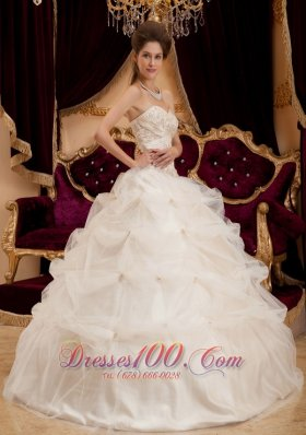 Amazing Beautiful Ivory Quinceanera Dress Sweetheart Pick-ups
