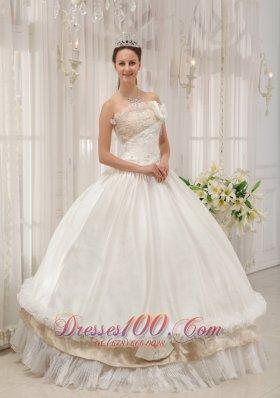 Ball Gown Strapless Floor-length Taffeta Dress for Quince