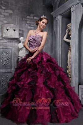 red wine quinceanera dresses