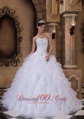 White Quinceanera Dresses,Lovely White Color Ball Gowns