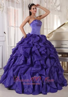 Layer Strapless Quinceanera Dress Navy Blue