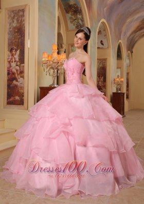 Sweet 16 Dress Pink Layer Sweetheart Chiffon