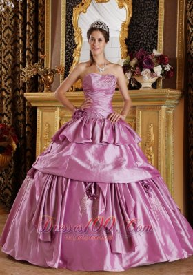 Lavendar Sweet 16 Dress Ruched Beading Ball Gown