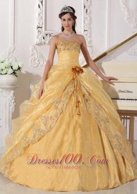 Gold Sequins Quinceanera Dresses,Sweet 15 Dresses in Gold Color