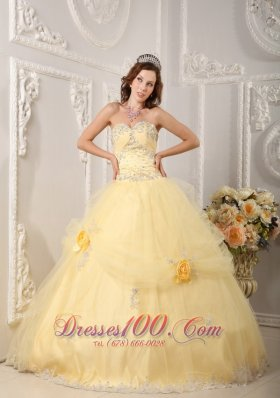 Light Yellow Quinceanera Dresses for 2013