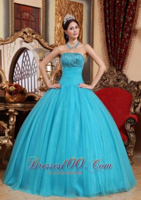 Teal Color Quinceanera Dresses