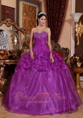 Eggplant Purple Quinceanera Dress Sweetheart