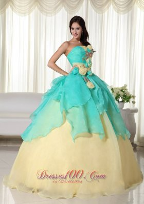 Ball Gown Strapless Organza Beading Quinceanera Dress