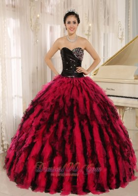Beaded Impressive Clearance Ruffled Sweetheart Quinceanera Dress