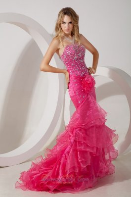 Beautiful Hot Pink Prom Dresses