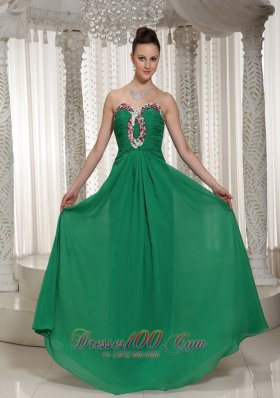 2013 Green Prom Holiday Dress Ruch Beading