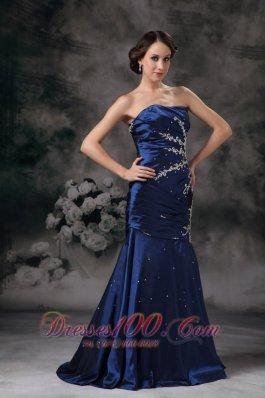 Royal Blue 17 Prom Dress Mermaid Brush