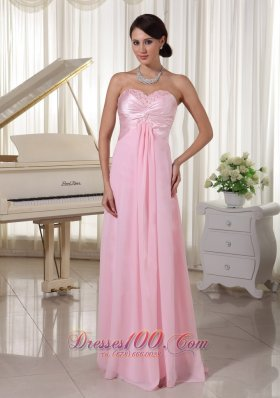 Baby Pink Beading Sweetheart Dress for Prom