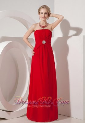 Cheap Red Prom Dress Floor-length Around 100