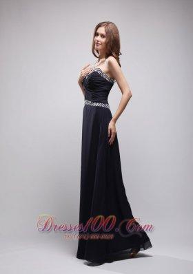 On Sale Black Sequins Prom Evening Dress