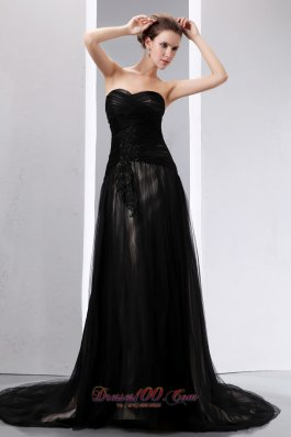 Black Empire Sweetheart Mother Dress Court Tulle