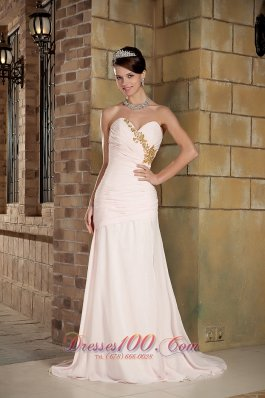 Prom Holiday Dress Light Pink Column Brush Beading